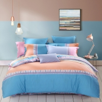 水星家纺(MERCURY) 床上用品四件套纯棉 全棉斜纹印花被套床单 克诺斯 加大双人1.8米床