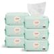 十月妈咪 新生宝宝便携两用非湿纸巾 婴儿纯棉柔巾手口100抽*6包
