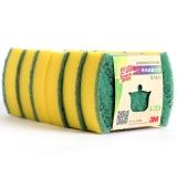 3M思高刷碗刷鍋布海綿百潔布6片裝一般廚具通用型