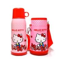 Hello Kitty 凯蒂猫婴儿童保温水杯 畅游休闲直饮水壶(含杯套)600ML 粉红色
