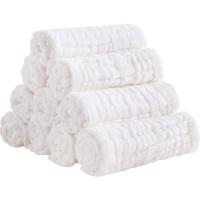 象寶寶(elepbaby)新生兒全棉尿布 10層加厚免折水洗紗布尿片 嬰兒可洗尿片46X17CM (十條裝)
