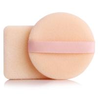 优家(UPLUS)植绒定妆散粉扑(带勾手 圆形+方形)2个装(颜色随机新老包装随机发货)