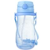贝儿欣(BABISIL)儿童水杯大容量运动吸管水杯水壶儿童训练喝水学饮杯豆思牛500ml蓝BS5038