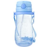 贝儿欣(BABISIL)大容量运动吸管吸管水杯水壶儿童训练喝水学饮杯豆思牛500ml蓝BS5038