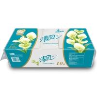 清風(APP)無芯卷紙 馬蹄蓮系列 3層140克衛生紙*10卷 平紋長卷