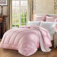 水星家纺(MERCURY) 澳洲羊毛春秋被子床上用品 粉色加大单人被芯150*210cm