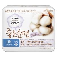 高洁丝 Kotex 进口纯棉夜用卫生巾290mm12片【韩国原装进口】