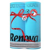 瑞诺瓦之爱(Renova) 双拼卷纸 加勒比海蓝/白色 2层150节*6卷 葡萄牙进口