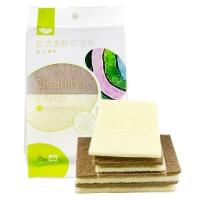 普业 欧式含砂百洁布 洗碗棉(8片装) PY-0114