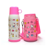 Hello Kitty 凯蒂猫婴儿童保温水杯 畅游休闲直饮水壶(含杯套)600ML 白色