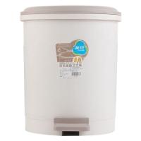 茶花 垃圾桶 28CM圆型脚踏卫生桶9.6L 1501