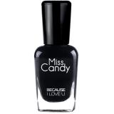 Miss Candy健康指彩可撕可剥指甲油环保 黑色神秘夜纱 MG24