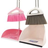 伊司达(EAST)扫把 亲子扫帚簸箕组合 软毛 清洁工具不锈钢杆(二套装)ES8218