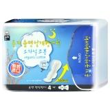 恩芝(Eun jee)纯棉夜用卫生巾(加长)330mm 4片(韩国原装进口)