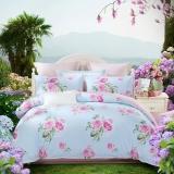 水星家纺(MERCURY) 床上用品四件套纯棉 全棉斜纹印花被套床单 霓裳若梦 双人1.5米床