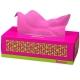 瑞诺瓦之爱( Renova) 盒装抽纸 彩色双拼贵气粉/白色 3层80抽/盒 葡萄牙进口