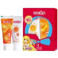 舒客宝贝 3阶段早晚优护牙膏鲜橙味(40g+40g)(新老包装随机发货)