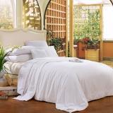 富安娜家纺出品 圣之花纯棉子母被芯 四季被子冬被四季被保暖被 静雅蚕丝二合一被 1.8米床(230*229cm 白色