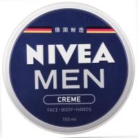 妮维雅(NIVEA)男士润肤霜150ml(德国进口 男罐 男士面霜 小蓝罐滋润补水乳液)