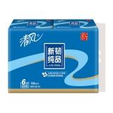 清风(APP)抽纸 新韧纯品 3层120抽纸巾*6包