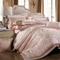富安娜家紡 床單四件套 提花床品套件 羅納河上的星夜 1.5米床適用(203*229cm)黃色