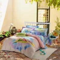 SAINTMARC罗莱生活出品 贡缎纯棉四件套 全棉床品套件床上用品床单被套 鹿野仙踪W-SED293-4 尚玛可220*240