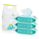 初然之爱(Original care)婴儿护肤柔湿巾80片*3包(婴儿湿巾湿纸巾、护肤湿巾、婴儿柔湿巾)