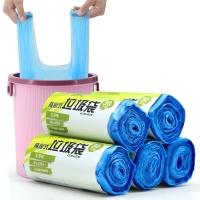 伊司达(EAST)垃圾袋背心中号增厚30只装*5卷 蓝色 ES8194