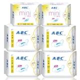 ABC纤薄棉柔日用卫生巾含迷你巾组合6包(日32片+mini日16片)
