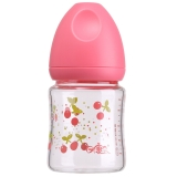 日康(rikang)宽口玻璃奶瓶 (140ml) RK-8032(颜色随机)