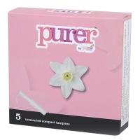 Tmaxx Purer 紧凑型导管式卫生棉条 无香型 (2支普通型+2支量大型+1支超大型)5支混合装