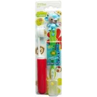 雷治(Dr.RAY)儿童动物世界牙刷礼品装 (尖毛型刷毛)(送刷头保护套)(造型随机)