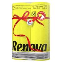 瑞诺瓦之爱(Renova) 双拼卷纸 灿烂黄/白色 2层150节*6卷 葡萄牙进口