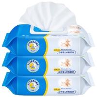 五羊(FIVERAMS)婴儿护肤柔湿巾PiPi专用80片×3包(儿童宝宝湿纸巾带盖 )