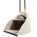 伊司达(EAST)扫把扫帚簸箕组合 清洁地板 瓷砖专用(大容量乳白)ES8216