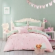 水星家纺 全棉斜纹印花卡通床上四件套甜蜜萌兔床上用品床单被罩 1.8米床