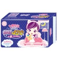 七度空间(SPACE 7)少女系列 纯棉超薄 超特长夜用卫生巾 420mm*8片