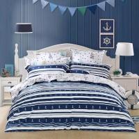 水星家纺 全棉斜纹印花卡通床上四件套扬帆起航 床上用品床单被罩 1.8米床