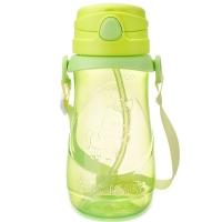 贝儿欣(BABISIL)儿童水杯大容量运动吸管水杯水壶儿童训练喝水学饮杯小马王500ml绿BS5039