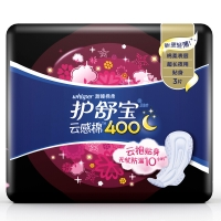 护舒宝(Whisper)超长夜用 云感棉卫生巾 400mm 3片