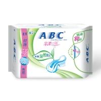 ABC 茶树系列 纤薄 网感 棉柔表层  夜用卫生巾 280mm*8片(澳洲茶树精华)