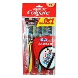 高露洁(Colgate) 适齿炭 牙刷×3 (买二送一装) (软毛)(新老包装随机发放)