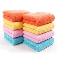 金号纯棉毛巾家纺GA1003提缎吸水面巾红、黄、桔、蓝混色8条装 70*34.5cm 86g/条