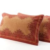 金號 毛巾家紡 提緞枕巾G2028一對 顏色隨機