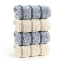 金號 純棉毛巾GA1058灰棕混色4條裝 70*34cm