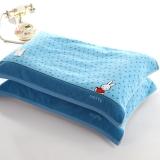 金号 床品家纺 米菲兔正品MF2029枕巾2条装蓝色
