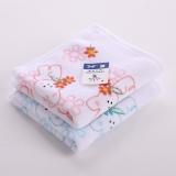 金號 毛巾家紡 純棉T1035素色割絨卡通童巾粉黃綠混色2條裝