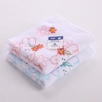 金号 毛巾家纺 纯棉T1035素色割绒卡通童巾粉黄绿混色2条装