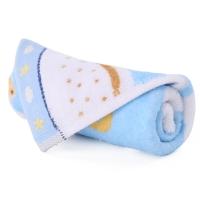 金号 纯棉家纺割绒卡通小毛巾蓝色单条装 T1101 52*27cm