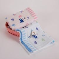金号毛巾家纺G1827W纯棉吸水面巾红蓝两条装
